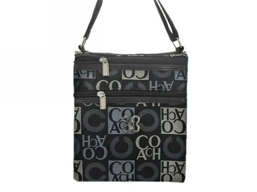 Coach Shoulder Black Gray Bag