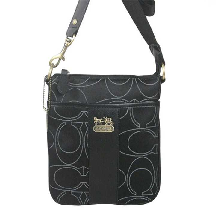 Coach Shoulder Black Bag