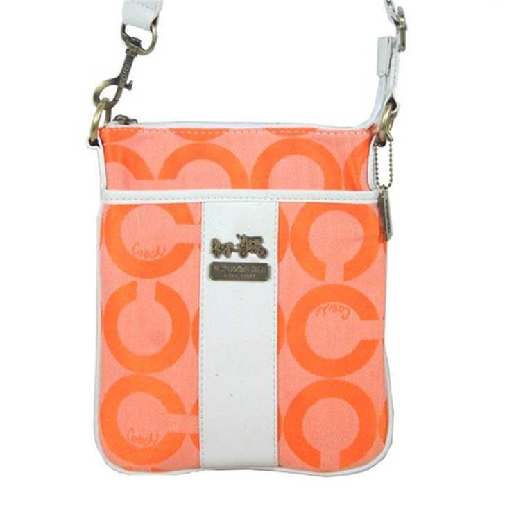 Coach Orange White Shoulder Bag