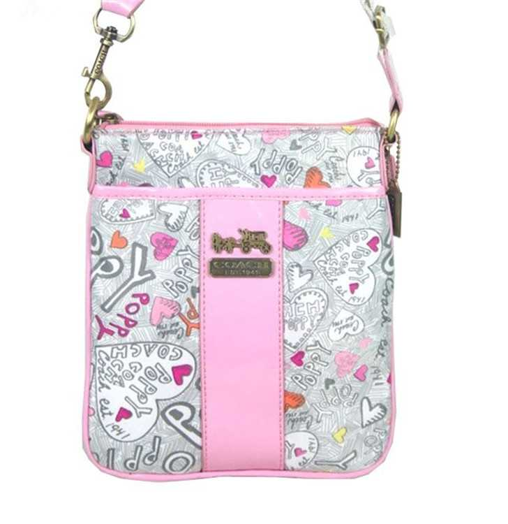 Coach White Pink Shoulder Bag