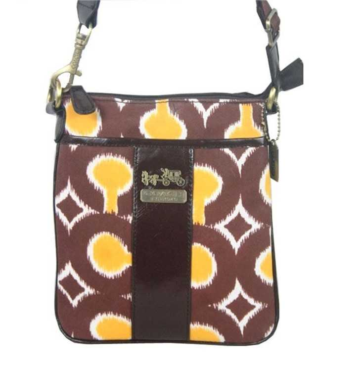 Coach Yellow Brown Shoulder Bag