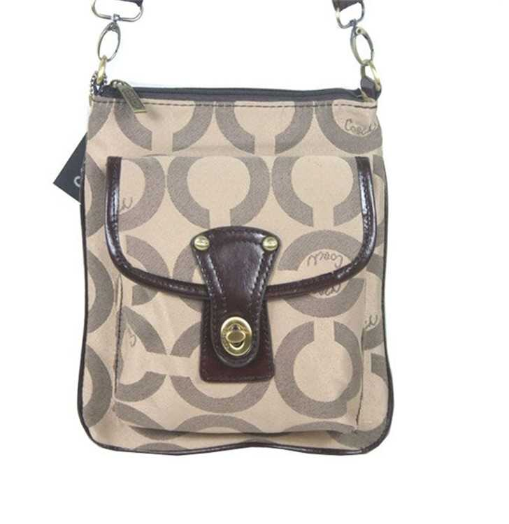Coach Circle Nude Shoulder Bag