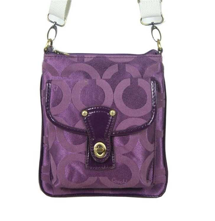 Coach Circle Purple Shoulder Bag
