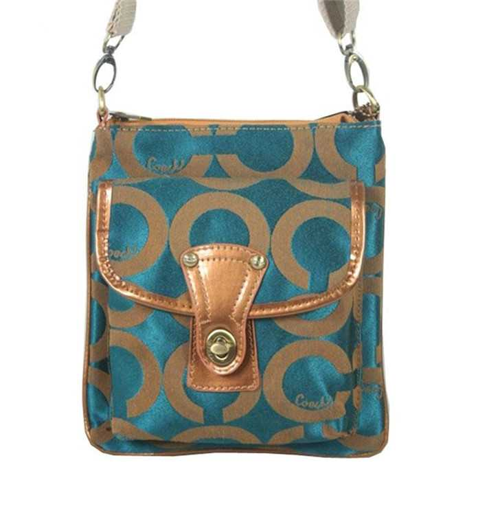 Coach Circle Green Shoulder Bag