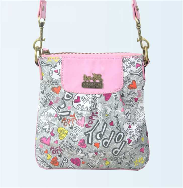 Coach Pink Gray Shoulder Bag