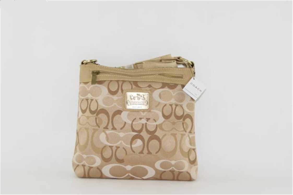Coach Beige Brown Shoulder Bag