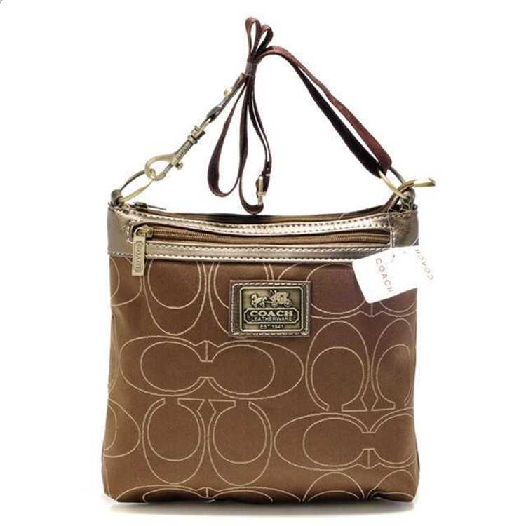 Coach Shoulder Coffee Bag