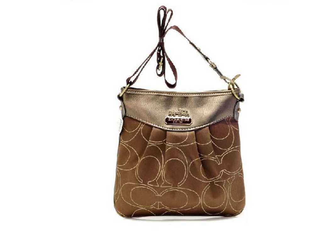 Coach Brown Golden Shoulder Bag