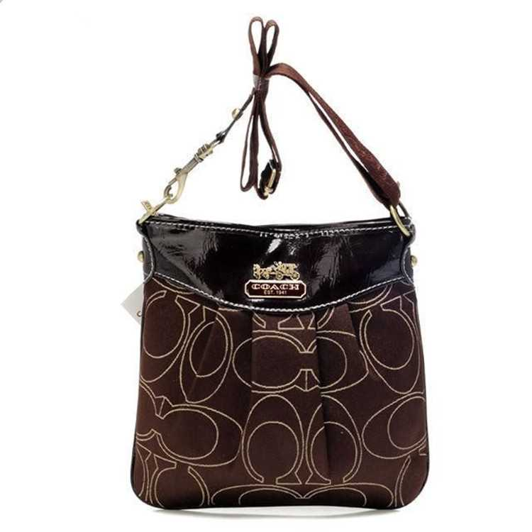Coach Black Chocolate Shoulder Bag