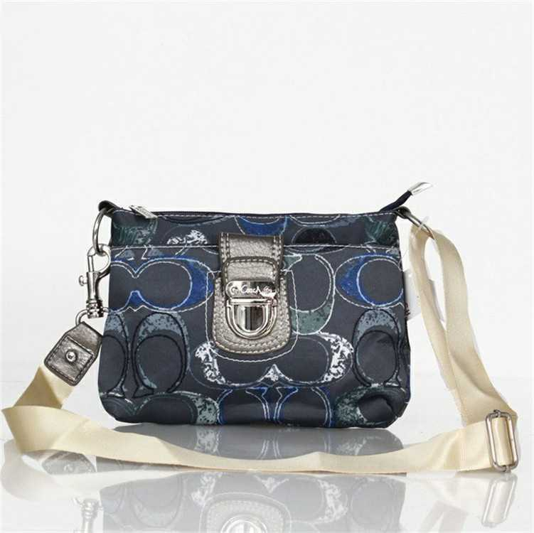 Coach Black Blue Shoulder Handbag