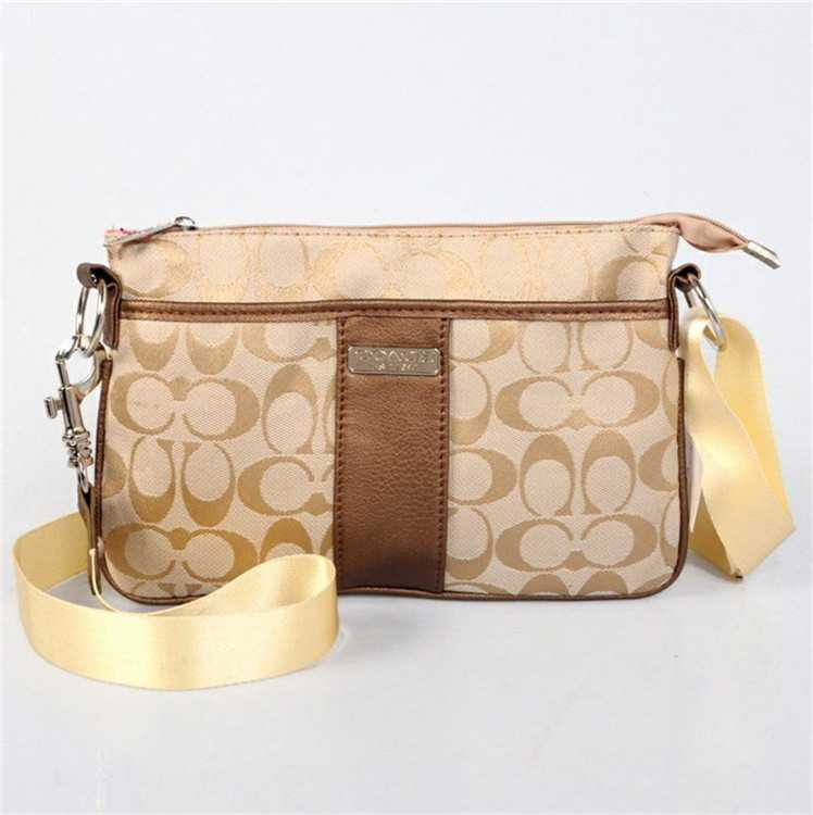 Apricot Coach Shoulder Bag