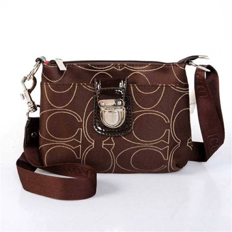 Chocolate Coach Shoulder Handbag
