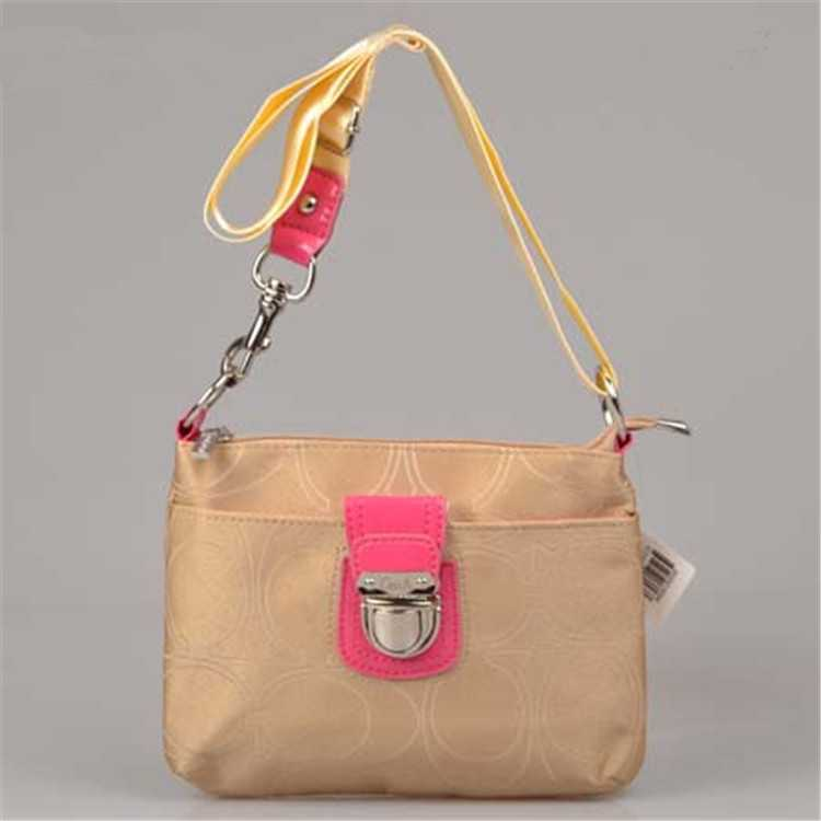 Coach Sand Yellow Shoulder Bag
