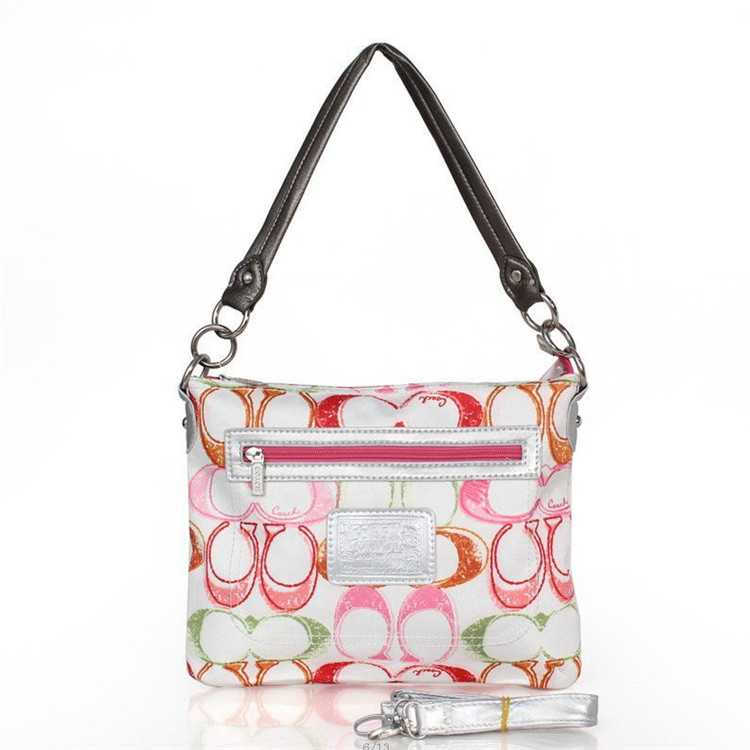 Coach Shoulder Bag White Red