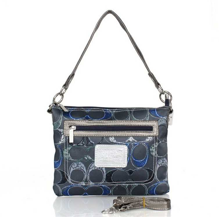 Coach Blue Black Shoulder Handbag