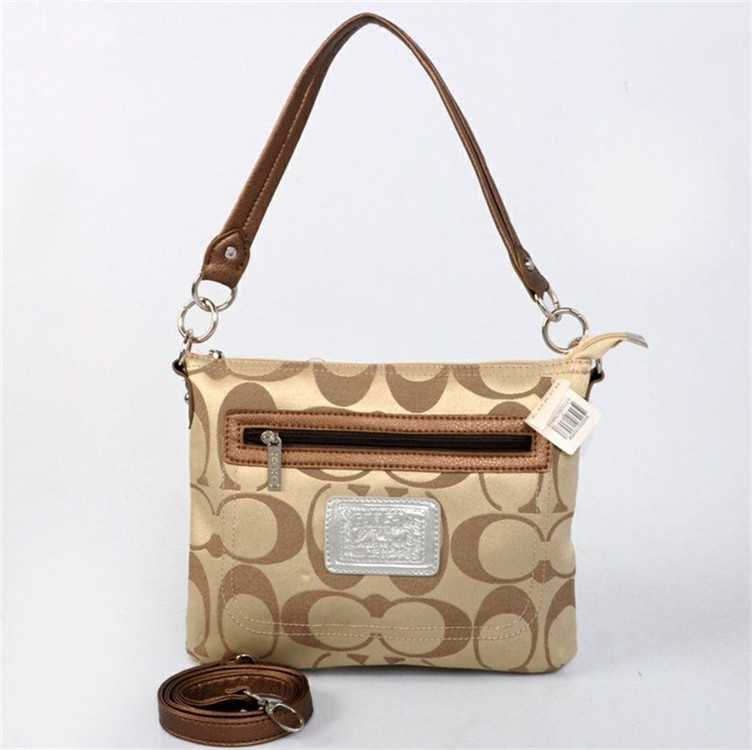 Coach Brown Golden Shoulder Handbag