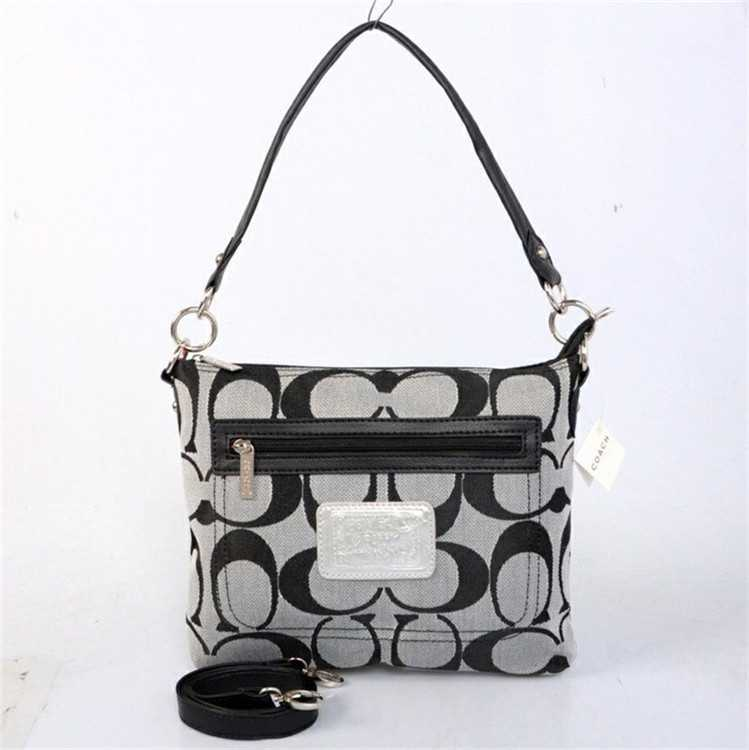 Coach Black White Shoulder Handbag