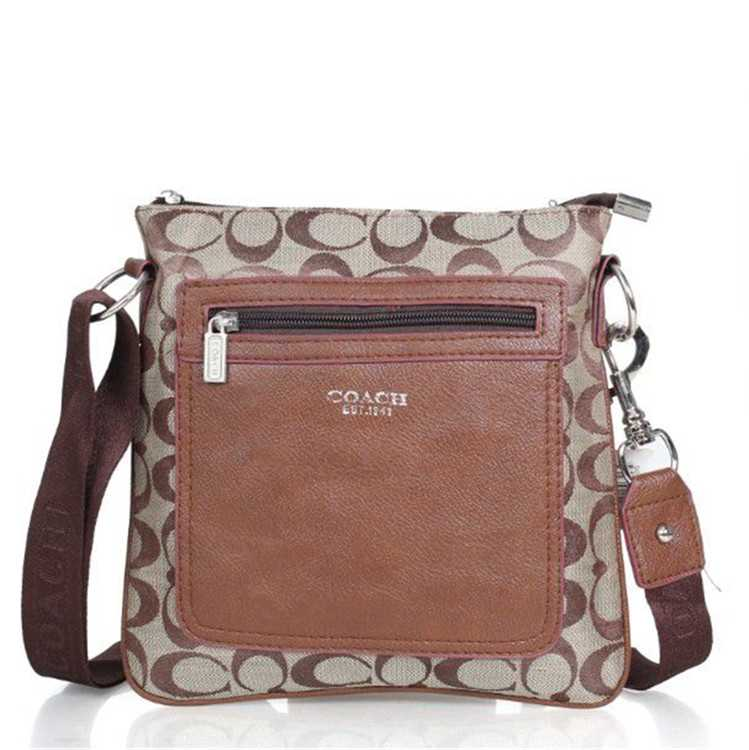 Coach Coffee Brown Shoulder Handbag