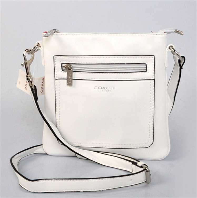 Coach White Shoulder Handbag