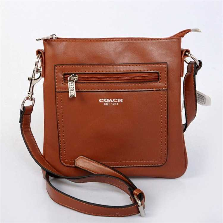 Coach Coffee Shoulder Handbag