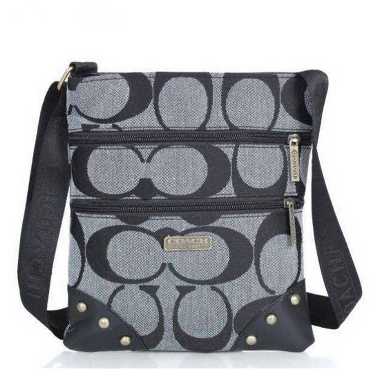 Shoulder Bag Black Gray Coach