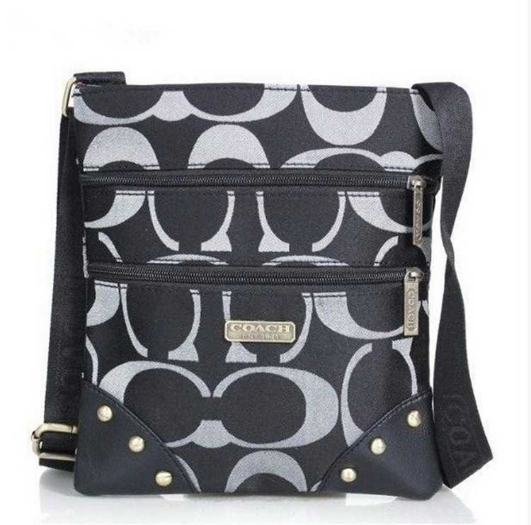 White Black Shoulder Bag Coach
