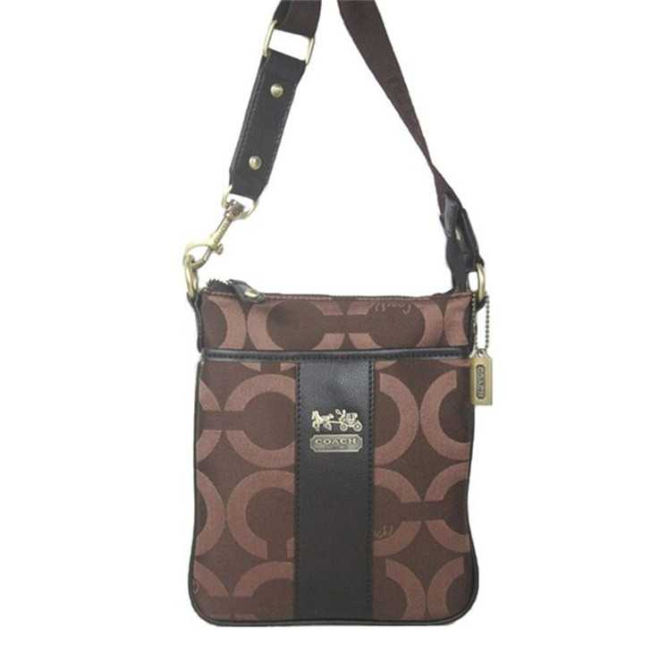Shoulder Bag Circle Chocolate Coach