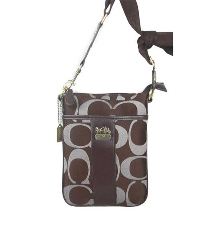 Shoulder Bag Signature Brown Coach