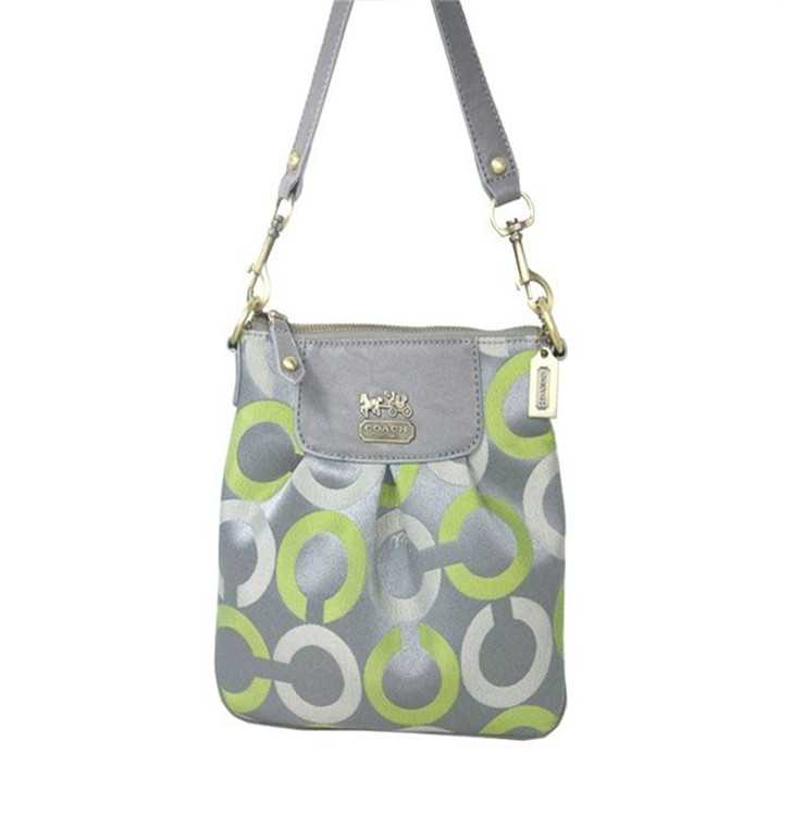 Shoulder Bag Gray Green Coach
