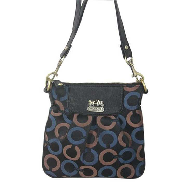Shoulder Bag Black Blue Coach