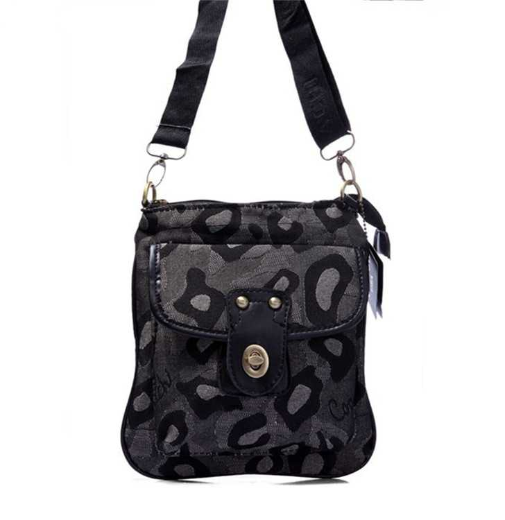 Shoulder Bag Coach Gray Black
