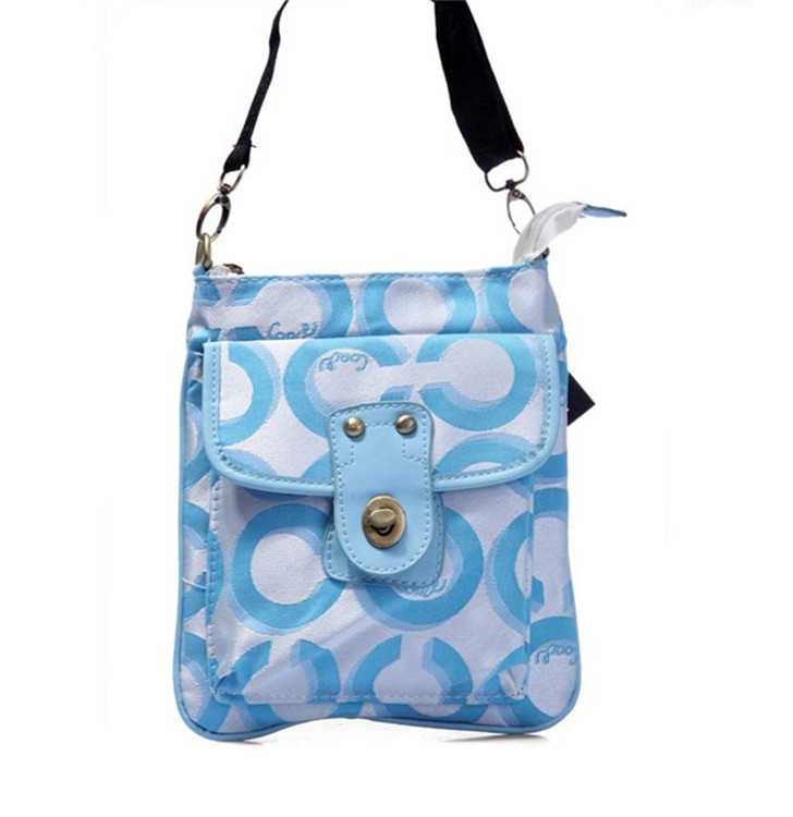 Shoulder Bag Coach Blue White