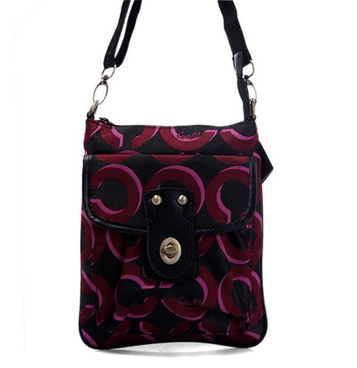 Shoulder Bag Coach Black Red