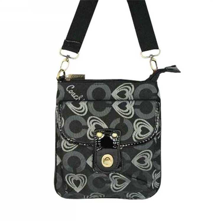 Shoulder Coach Bag Black Gray