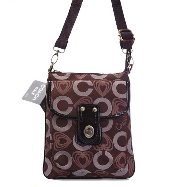 Shoulder Coach Bag Brown