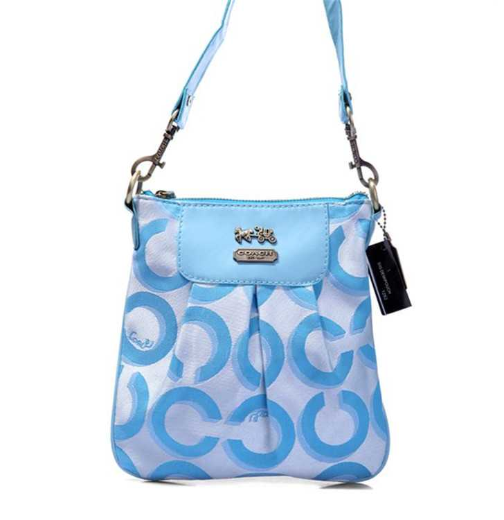 Shoulder Coach Bag Blue
