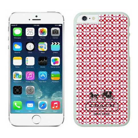 Coach In Confetti Signature Red iPhone 6 Cases EYS