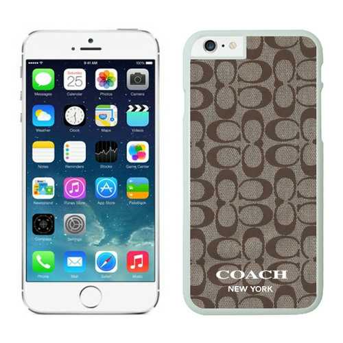 Coach Logo Signature Beige iPhone 6 Cases EYY