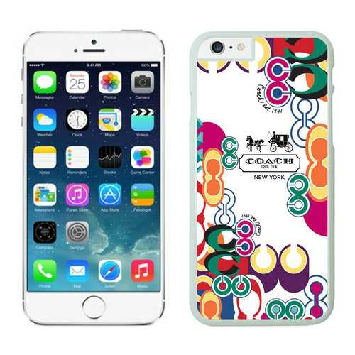 Coach Logo Monogram Multicolor iPhone 6 Cases FAM