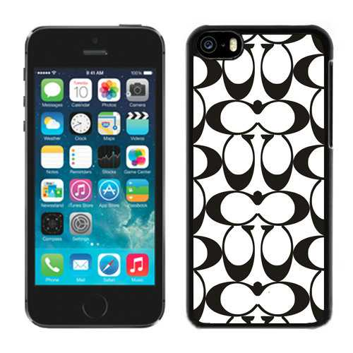 Coach Big Logo Black White iPhone 5C Cases DQL