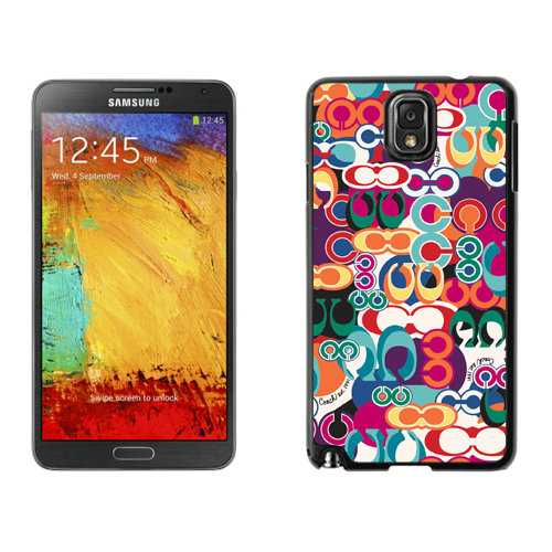 Coach Fashion Monogram Multicolor Samsung Note 3 Cases DRS