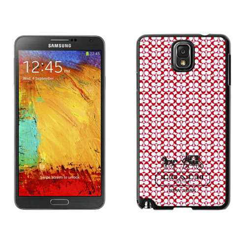 Coach In Confetti Signature Red Samsung Note 3 Cases DSL