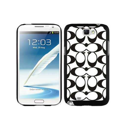 Coach Big Logo Black White Samsung Note 2 Cases DSN
