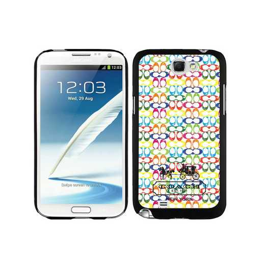 Coach Logo Multicolor Samsung Note 2 Cases DTC