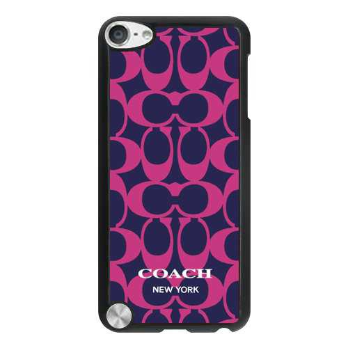Coach Big Logo Fuchsia Navy iPod Touch 5TH CAC
