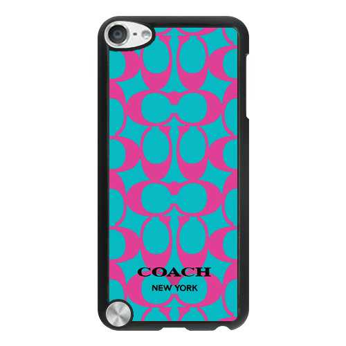Coach Big Logo Fuchsia Blue iPod Touch 5TH CAD