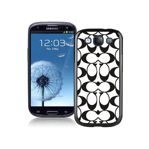 Coach Big Logo Black White Samsung Galaxy S3 9300 CAX