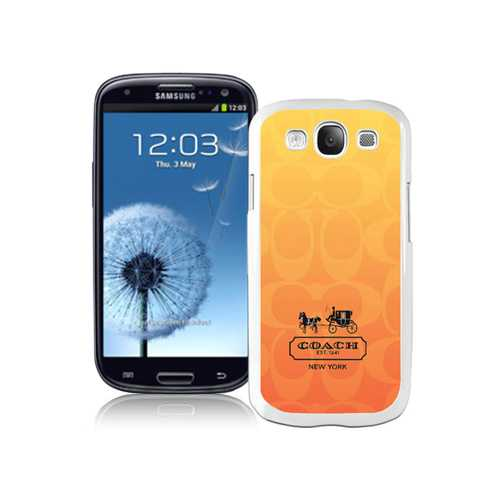 Coach In Signature Orange Samsung Galaxy S3 9300 BGC