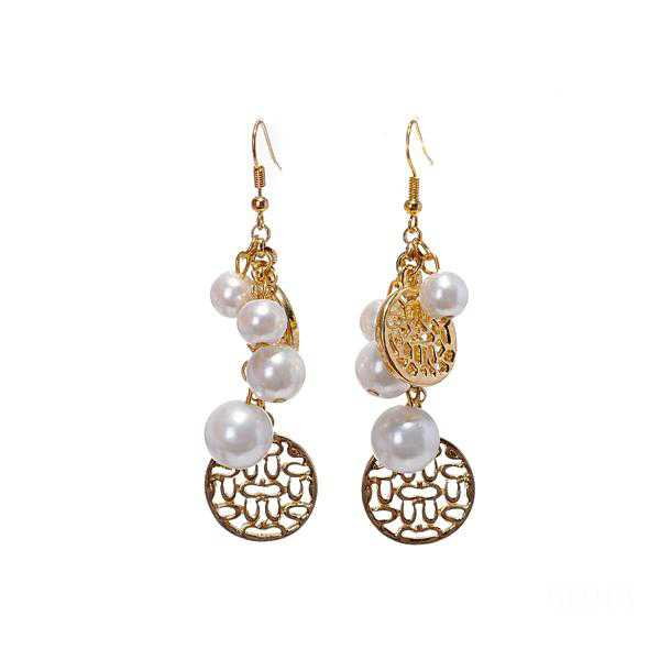 Coach Pearl Gold Earrings CVR