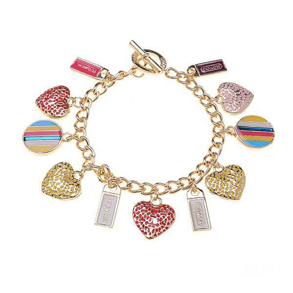 Coach Shine Heart Gold Bracelets CWN